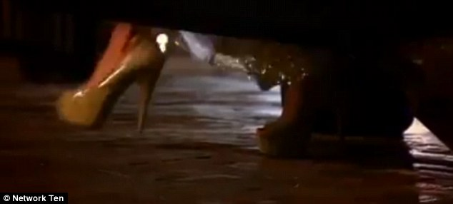 Stiletto stepping out of a car
