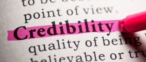 Credibility highlighted in pink from the dictionary